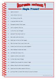 42 free esl unscramble worksheets