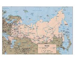 Define Political Map Maps Of Russia Detailed Map Of Russia In English And Russian