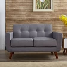 Overstuffed Sofa And Loveseat by Grey Sofas You U0027ll Love Wayfair
