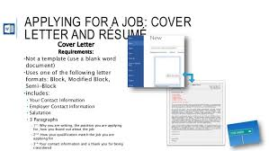 Cover Letter For A Resume Template The Career Search Project