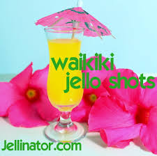 having a luau party try waikiki jello shots perfect for that
