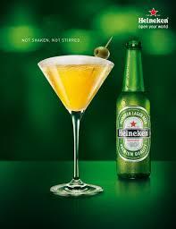 james bond martini shaken not stirred heineken beer