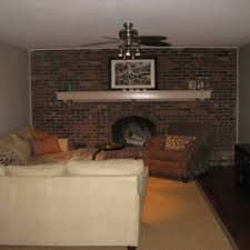 Wall E Floating Chairs Brilliant White Brick Wall Panels Painted Fireplace Added Floating