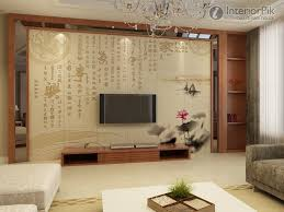 New Chinesestyle Living Room TV Background Wall Tile Decoration - Living room wall tiles design