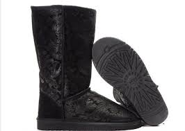 ugg boots australia factory outlet uggs bailey button bling triplet ugg black paisley boots 5852