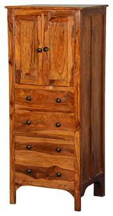 Drawer Storage Cabinet Rustic Solid Wood 56