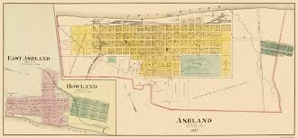 Zip Code Map Lexington Ky by Old City Map Ashland Kentucky 1877