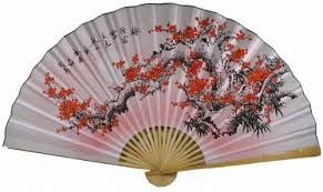 asian fan 35 feng shui wall fan flower fan022