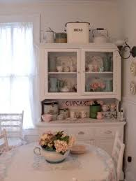 Cottage Kitchen Hutch An Upcycled Kitchen Hutch Finished In Old White Chalk Paint