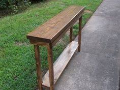 Narrow Sofa Table 60 Rustic Console Table Narrow Sofa Table Entryway Hallway