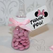 minnie mouse baby shower favors minnie mouse inspired baby shower favors plastic by lovinglymine