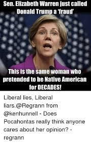 Elizabeth Warren Memes - sen elizabeth warren just called donald trump a fraud this is the