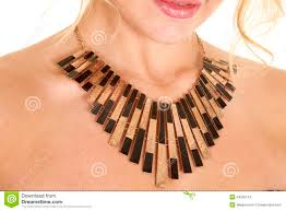 black neck from necklace images Black and gold necklace stock image image of metal hair 44205143 jpg