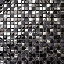 Mosaic Tile Backsplashes by Crackle Crystal Mosaic Diamond Silver Plating Glass Tile