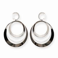 earrings pic earrings 3 row circular silver hoop earrings grt jewellers