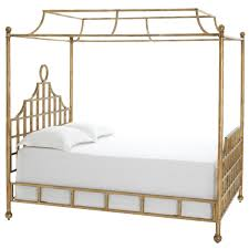 pine cone hill atlas canopy metal bed gold finish these