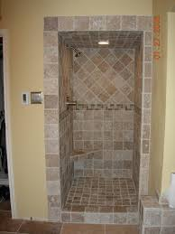 tile shower stalls with seat tile or marble shower benches