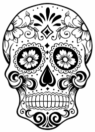 sugar skull clipart small sugar pencil and in color sugar skull