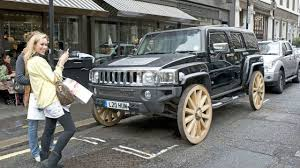 hummer jeep hummer h3 gets wagon wheels literally