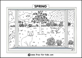 seasons coloring pages funycoloring