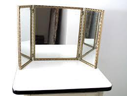 Tri Fold Bathroom Wall Mirror Vintage Tri Fold Mirror Home Design Ideas
