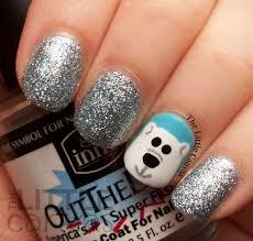 the little canvas polar bear nail art my nail designs