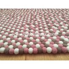 Pebble Rugs Gray Pink White Felt Ball Rug Felt Ball U0026 Rugs Felt Ball Rugs