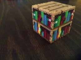 minecraft crafting table perler art by dragoniccreations on