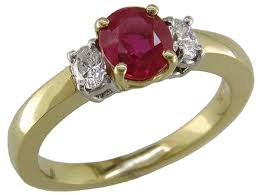 ruby diamond ring ruby and diamond ring in 18kt gold bijoux extraordinaire