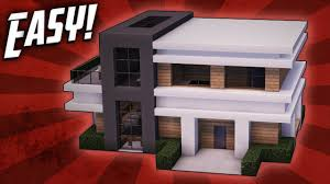 Build A Small House by Minecraft How To Build A Small Modern House Tutorial 18 Youtube