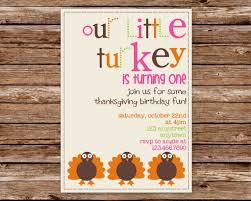 christmas cookie party invitations custom printable little turkey thanksgiving birthday party
