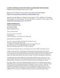usajobs resume builder federal resume sample and format the