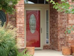 Red Front Doors Loving A Red Front Door Better With Light Colored Storm Door