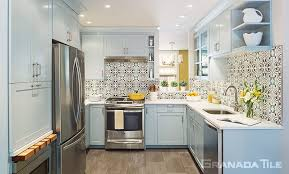Kitchen With Tile Backsplash Residential Cement Tiles Concrete Floor And Wall Tiling