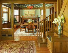 Craftsman Style Home Interiors by 1908 Arts U0026 Crafts Dining Room With Built In Buffet And