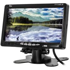 Monitor Pedestal Stand Tview T711hr Ir 7 Inch Widescreen Lcd Monitor With Headrest Shroud