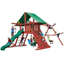 outdoor swing sets lowes swing sets and playsets suncast