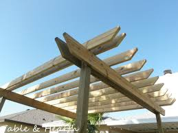 Building Your Own Pergola by Project Diy Pergola Part 3 Pergolicious Table And Hearth