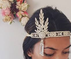 great gatsby hair accessories great gatsby headpiece gold roaring 1920 s hair accessories