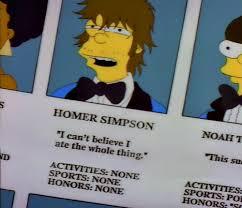 Homer Simpson Meme - meme classics homer simpson yearbook photo