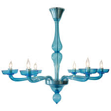 blue crystal chandelier light lighting blue glass chandelier pertaining to new home ideas