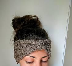 crochet ear warmer headband fall crochet headband crochet knot headband by thesnugglery