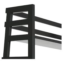 acadian ladder shelf bookcase black simpli home target