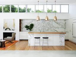 cuisine marbre blanc design et conception cuisine 80 cuisines élégantes conception
