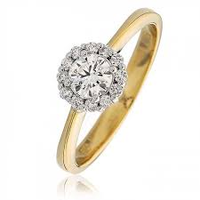 engagement ring gold engagement ring 0 55ct 18k gold
