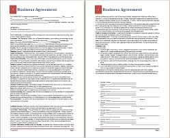 ms word business agreement template free agreement templates