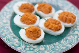 pumpkin deviled eggs recipe