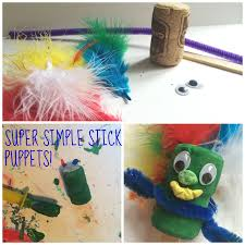 mini monets and mommies easy kids u0027 stick puppet it was a cork