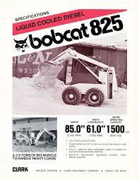 Bobcat 825 Spec Sheet 1982 Bobcat Blog