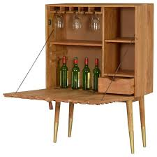 Flip Top Bar Cabinet Midcentury Modern Wine And Bar Cabinets Houzz